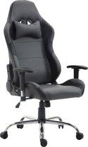 Clp ROSBERG - Racing bureaustoel - kunstleer - grijs