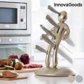 InnovaGoods Voodoo Premium Messenset met Messenhouder (6 Stuks)