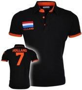Heren Polo Nederland - Zwart