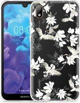 Huawei y5 2019 Hoesje White Bird