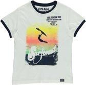 Losan Jongens Shirt Lichtbruin met print  K29 - Maat 128