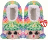 Ty Fashion - Beanie Boo's - Slipper socks - Rainbow the poodle - Maat  M (29-32)