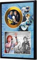 Golddiscdisplay met plectrums Ed Sheeran ingelijst