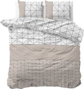 Sleeptime Gino - Dekbedovertrekset - Tweepersoons - 200x200/220 + 2 kussenslopen 60x70 - Taupe