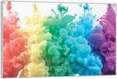 Plexiglas –Regenboog Wolken– 90x60cm (Wanddecoratie op Plexiglas)