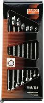 Bahco 11M/S8 Ring-steeksleutelset, afgebogen, lange uitvoering 8-delig