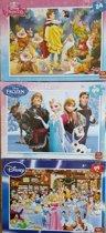 3x Puzzel Disney/Frozen