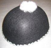 hoed vilt - pierrot - zwart