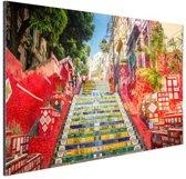 Selaron trappen Rio de Janeiro Aluminium 60x40 cm - Foto print op Aluminium (metaal wanddecoratie)