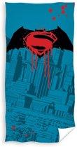 Marvel Badhanddoek Batman Vs. Superman Blauw 70x140 Cm