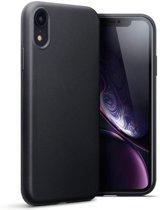 Hoesje voor Apple iPhone XR, gel case, mat zwart