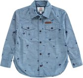 Tumble 'N Dry Jongens Overhemd Farzin - Denim Mid Blue - Maat 116