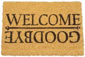 Deurmat met tekst ' Welcome / Goodbye '- Kokosmat - 40x60cm