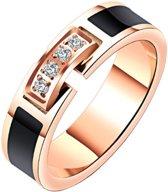 Cilla Jewels dames ring Rosegoud Verguld Zirconia-16mm