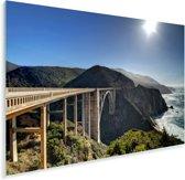 Bixby Creek Bridge in Big Sur Californië Plexiglas 90x60 cm - Foto print op Glas (Plexiglas wanddecoratie)