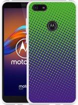 Motorola Moto E6 Play Hoesje lime paarse cirkels
