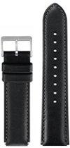 Horloge bandje - zwart - echt leer - 24mm