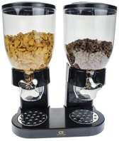 United Entertainment - Cornflakes Dispenser - 2 Dispensers - 41 x 32,5 x 19 cm - Zwart