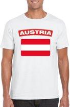 Oostenrijk t-shirt met Oostenrijkse vlag wit heren M