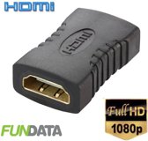 HDMI koppelstuk female-female Full HD |  2 HDMI kabels te verlengen | Adapter | Verlengstuk | Verguld | Kwaliteit