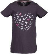 Blue Seven Meisjes Shirt Antraciet Grijs met print - Maat 98
