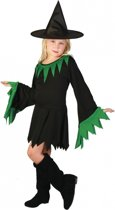 Halloween Zwarte heksenjurk voor meisjes 110-122 (5-7 jaar)