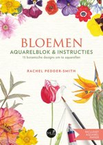 Bloemen aquarelblok & instructies