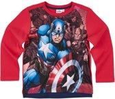 Avengers-Assemble-T-shirt-met-lange-mouw-rood-maat-152