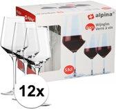 12x wijnglazen voor rode wijn - 530 ml - wijnglas