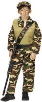 Kostuum leger jongen action air force met pet - Maat 116