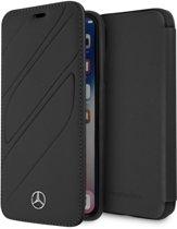 Mercedes-Benz boekmodel voor iPhone X - Zwart