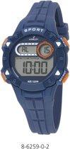 Nowley 8-6259-0-2 digitaal horloge 36 mm 100 meter blauw/ oranje
