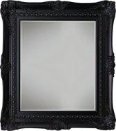 Qweens - Spiegel - Sara- zwart - buitenmaten breed 84 cm x hoog 114 cm.