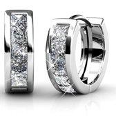 Yolora oorbellen - Swarovski kristal - Zilverkleurig - Dames - Set oorbellen - Silver Blush