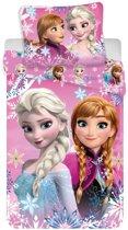 Disney Frozen - Dekbedovertrek - Eenpersoons - 140 x 200  cm - Roze