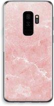Samsung Galaxy S9 Plus Transparant Hoesje (Soft) - Roze marmer