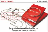 QUICK BRAKE Remleiding -  set 6 delige Opel Astra F (T92)
