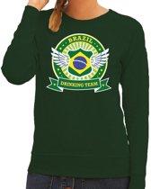 Groen Brazil drinking team sweater dames S