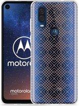 Motorola One Vision Hoesje Geometric Pink