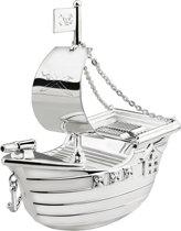 Zilverstad - Spaarpot - Piratenboot - Verzilverd