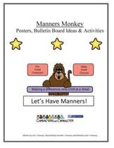 Manners Monkey Posters and Bulletin Board Ideas and Activities