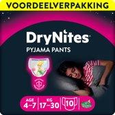 Huggies DryNites absorberende nachtbroekjes | GIRLS | 4 - 7 jaar | 3 x 10 stuks