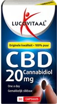 Lucovitaal - CBD Cannabidiol 20 milligram - 30 capsules - Voedingssupplementen