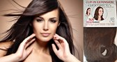 50% zomerkorting Clip-in Half Wig - 40CM Steil Chocobrown