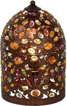 Lucide BYRSA - Tafellamp - Ø 19 cm - E14 - Roest bruin
