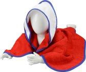 A&R Babiezz™ Babycape 100% Katoen Rood/Wit/Koningsblauw