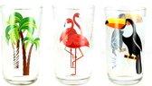 Cerve Toekan - Flamingo - Palm longdrink glas - 320 ml - Set-3