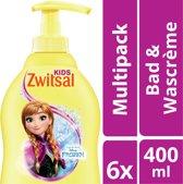 Zwitsal Frozen Bad & Wascrème - 6 x 400 ml - Voordeelverpakking