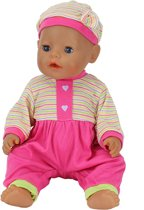 B-Merk Baby Born pakje, roze met gekleurde streepjes