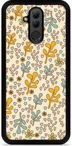 Huawei Mate 20 Lite Hardcase Hoesje Doodle Flower Pattern
